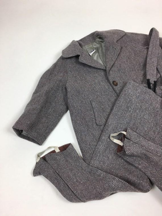 Vintage 1940s Boys Tweed Coat Pantsuit Set / vint… - image 9