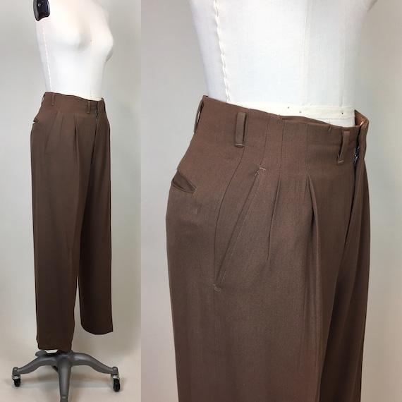 Rare Vintage 1940s Rayon Gabardine Womens Pants /