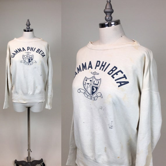 Vintage 1950s College Cotton Sweatshirt / vintage