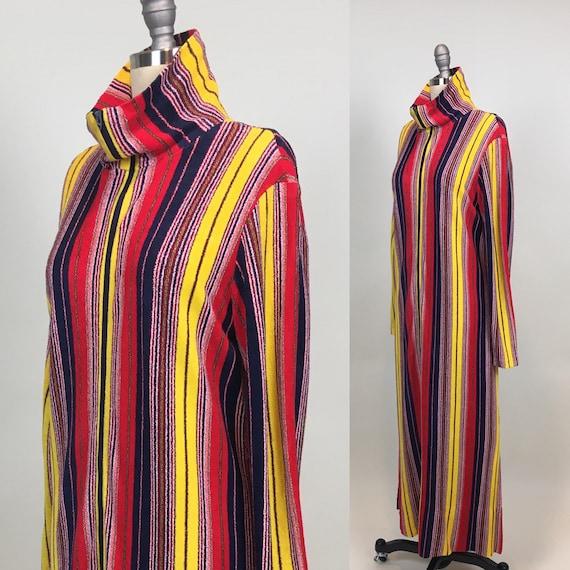 vintage 1970s Terry Cloth Kaftan / Vintage 1970s M