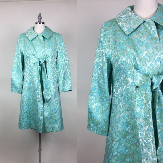 1960/'s Dress and Coat  XS S vintage spring mini dress mid century over coat mid century jackie kennedy