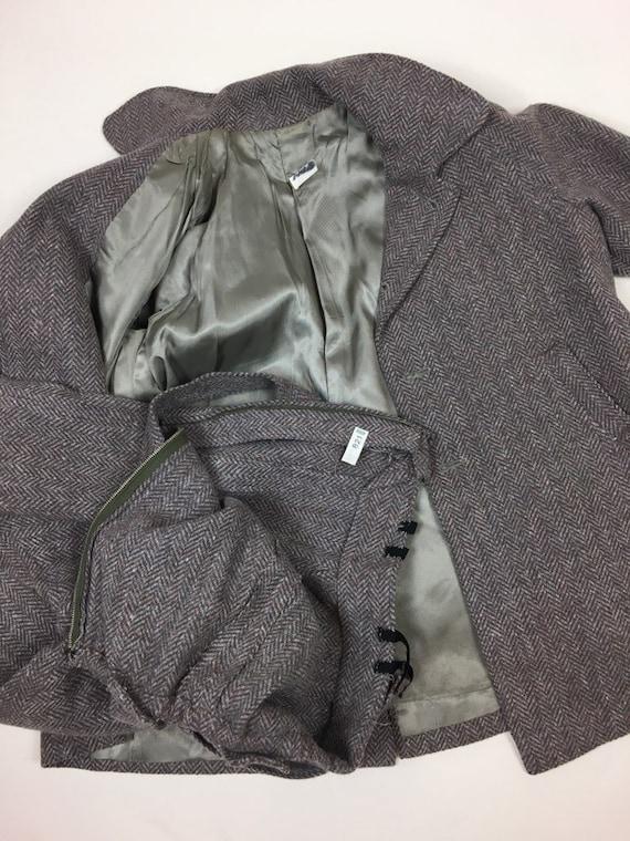 Vintage 1940s Boys Tweed Coat Pantsuit Set / vint… - image 10