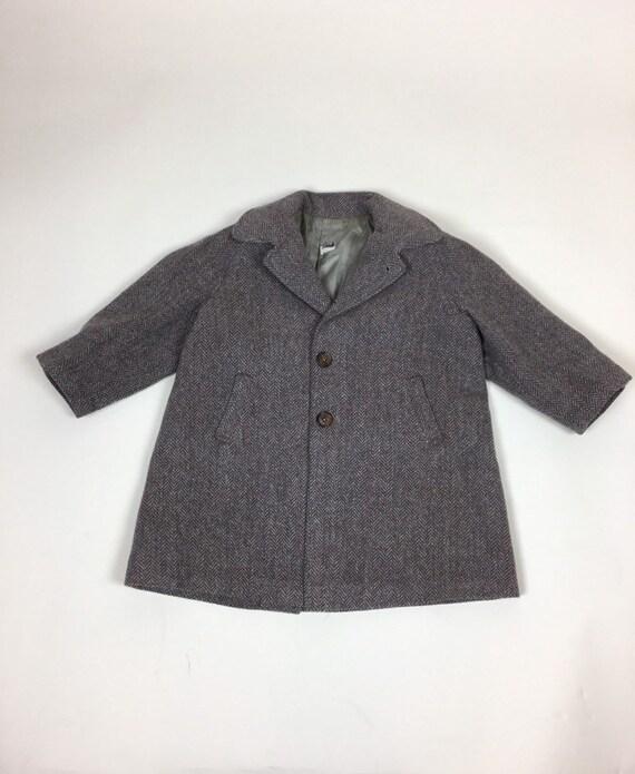 Vintage 1940s Boys Tweed Coat Pantsuit Set / vint… - image 2