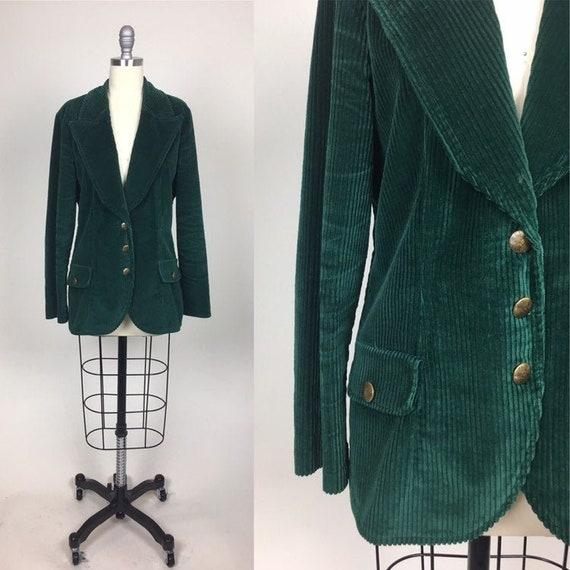 vintage 70s Corduroy Coat Fall Jacket / vintage 19