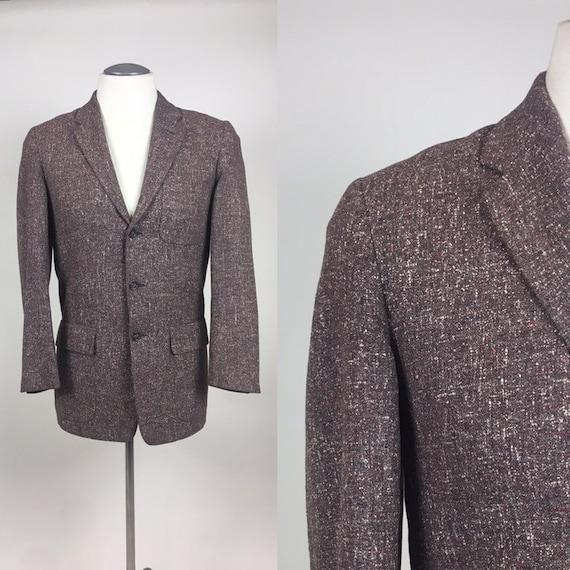 Vintage 1950s Men's Fleck Suit Coat Jacket / vinta