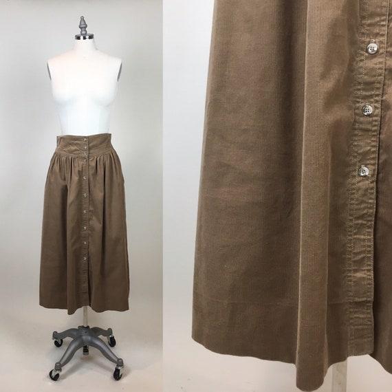 Vintage 1990s Union Bay Brown Corduroy Skirt