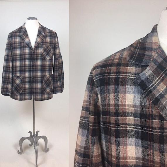 Vintage 1950s Lightweight Wool Plaid 49er Pendleto