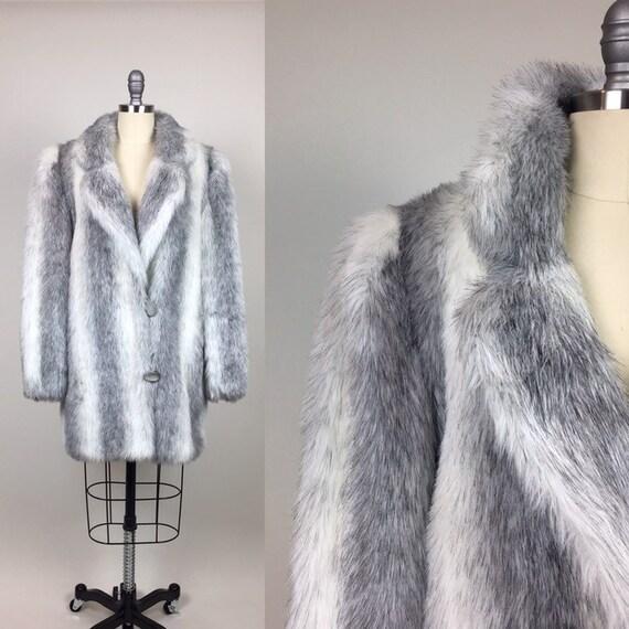 vintage 1980s Faux Fur Huggy Bear Coat / Vintage 8