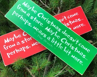 mAyBe CHRISTMAS Doesn't Come From A Store-Hand Painted Wood Sign-Home Decor-Christmas Decoration