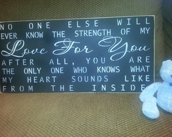 NO ONE ELSE will know...Hand Painted, Wall Decor, Nursery, Childs Room