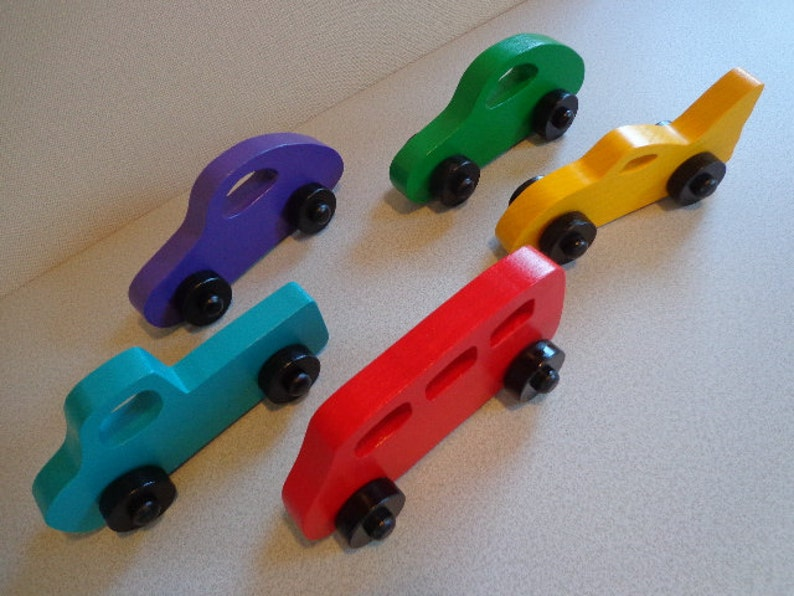 Party Favor Toy Truck Kids Toys Gift For Boy and Girl Vehicles Party Favor Toy Wood Toy Truck Bus and Car Car and Bus