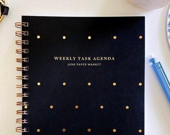 Undated Weekly Planner | Undated Planner | Hard Cover Weekly Planner | Weekly Planner | Minimalist Agenda | Student Planner | Undated Agenda