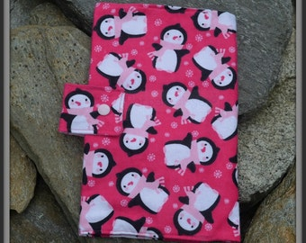 Penguins on Pink Diaper Wallet