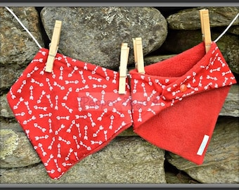Cupid's Arrows on Red Bandanna Baby Bib