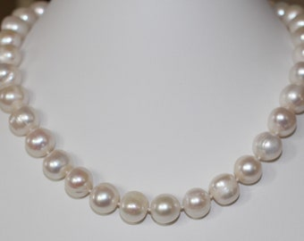 """12-13 mm White Pearl Necklace Princess length 18"""""""