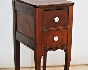 Beau Antique Side Table Two Deep Drawer Accent End Lamp Phone Stand Chippendale  Nationwide Shipping Available Please Call For Best Rates