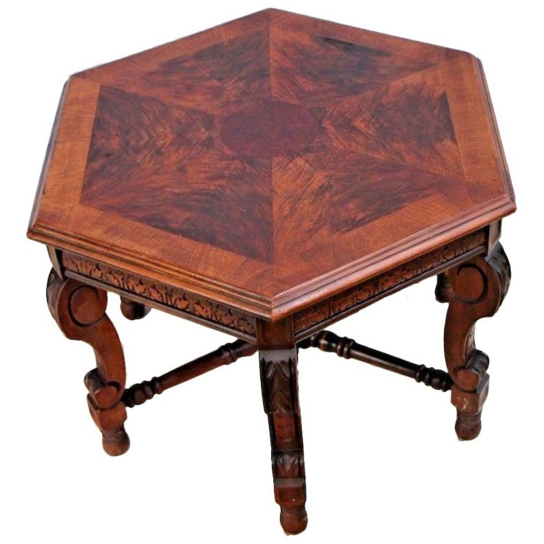 Furniture Tables Reliable Victorian Three Tier Parlor Side Table Stand With Shelves Solid Mahogany