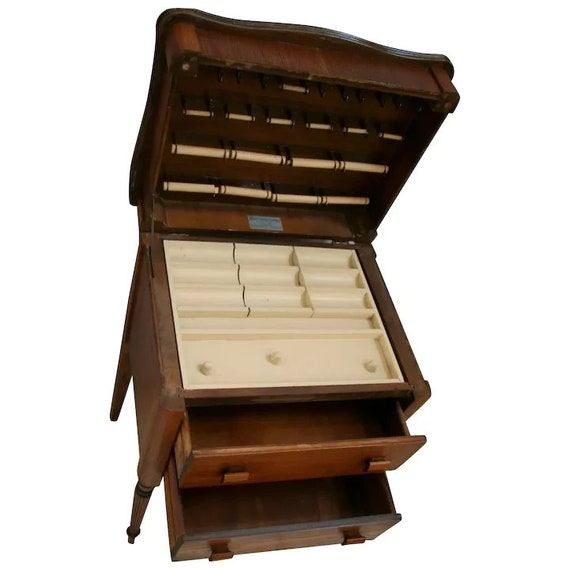 Vintage Sewing Cabinet Made By The, Vintage Sewing Cabinet