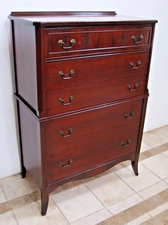 Rare Very Hard To Find Karpen Furniture Highboy Dresser