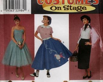 64c005c4be 8742 Halloween Costume adult uncut pattern Hip Hop on stage size Misses 4 6  8