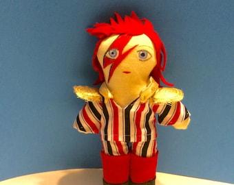 David Bowie Ziggy Stardust, Aladdin Sane, doll, plushie