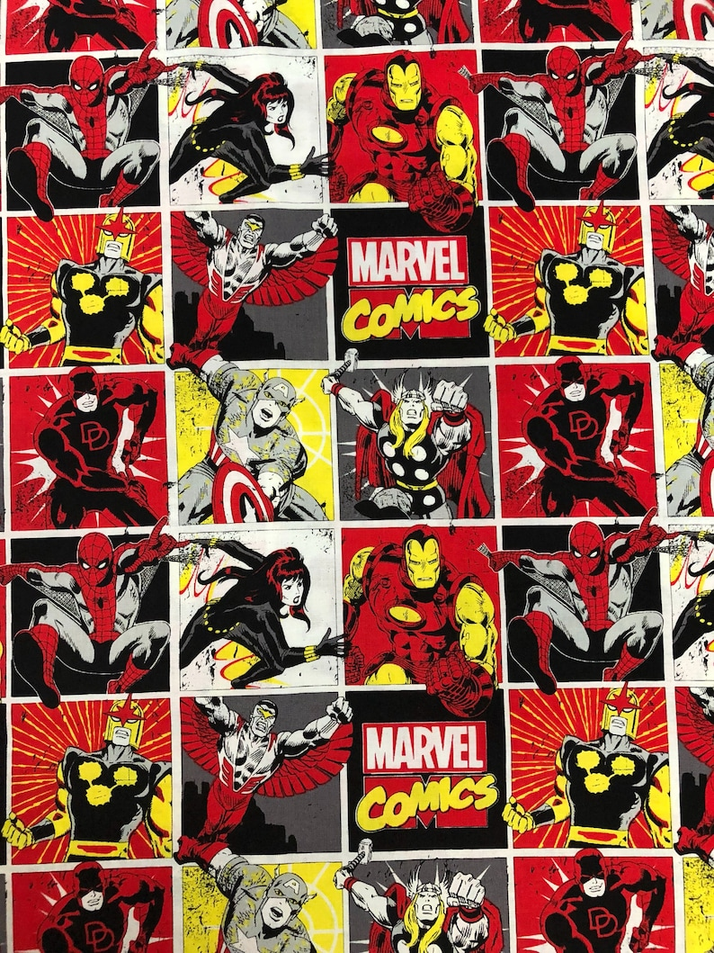 America Avengers New Spiderman Thor Comics Superheroes Marvel Captain Ironman Fabric 8nmN0wvO