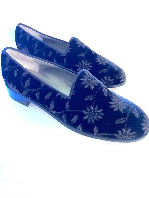 7b25fbcda5271e Vintage YSL. Yves Yves Yves Saint Laurent chaussure. Noir velours ...