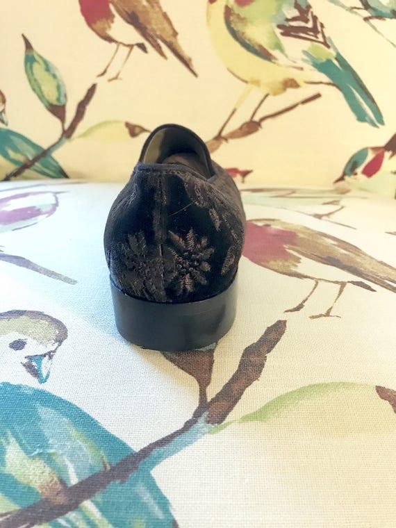 Moccasin Driving Size Velvet Flat Ballet 7B Slipper Laurent 7M Slip Black Loafers Slipper Velvet Yves Smoking YSL Vintage Shoe Saint on zAqBFwUxnH