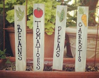 Custom Garden Markers, Garden Stakes, Plant Markers, Plant Stakes,  Vegetable Markers, Wood Garden Markers, Decorative Garden Stakes