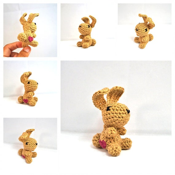Small Crocheted Animal with Heart