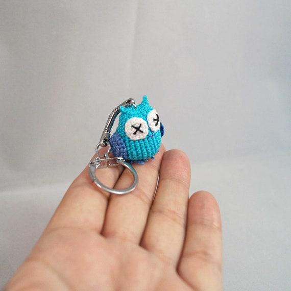Micro Crocheted Owl Keychain, Keyring, Bag Charm, amigurumi owl keychain