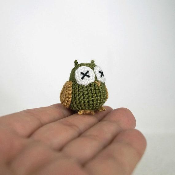 Micro Crocheted Owl