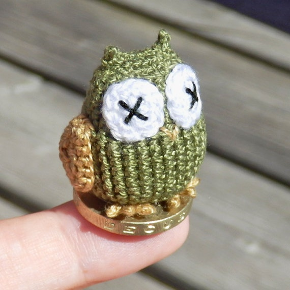 Micro Crocheted Owl