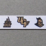 "5 Yards 1/"" Central Florida Knights Grosgrain Ribbon Crafts Bows Scrapbooking"