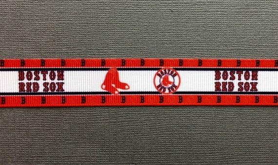 5 Yards of Boston Red Soxs Grosgrain Ribbon-7//8 inch