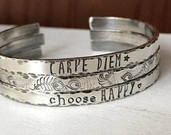 570e565a0da Personalized sterling silver cuff bracelets