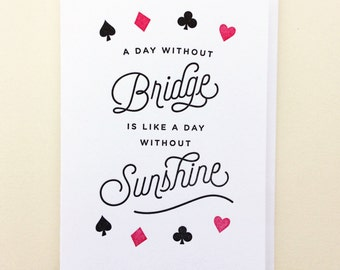Bridge & Sunshine Single Letterpress Card