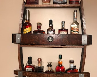 Liquor shelf | Etsy