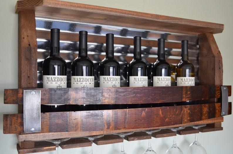 Rustic Barn Board Wine Racks - Trendy New Designers