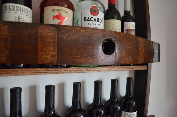 Wine Rack Made From Reclaimed Californian Wine Barrel Etsy