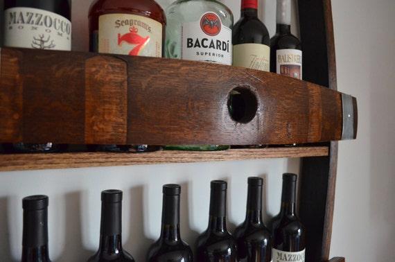 Wine Rack Made From Reclaimed Californian Wine Barrel Etsy