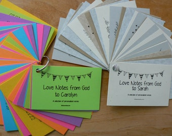 Personalized Scripture Bible Verse Cards Love Notes from God Christian Verses Graduation Baptism Wedding onfirmation Gift