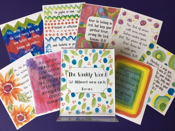attributes of God and Encouragement Cards on binder ring Scripture Memory