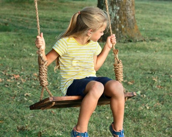 Adult/child tree swing – Country charm rustic swing, Reclaimed Wood Swing, Outdoor Swing, Childrens Gift