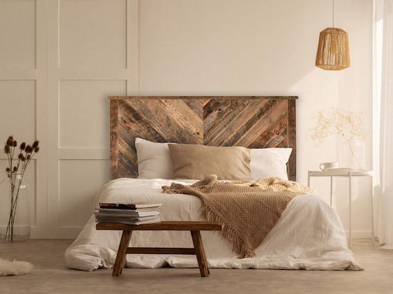 Herringbone Reclaimed Wood Headboard Multiple Sizes Twin Etsy