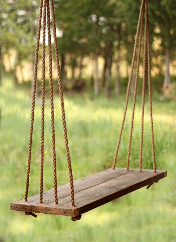Porch Swing Bench Outdoor Seating Rope Swing Tree Swing