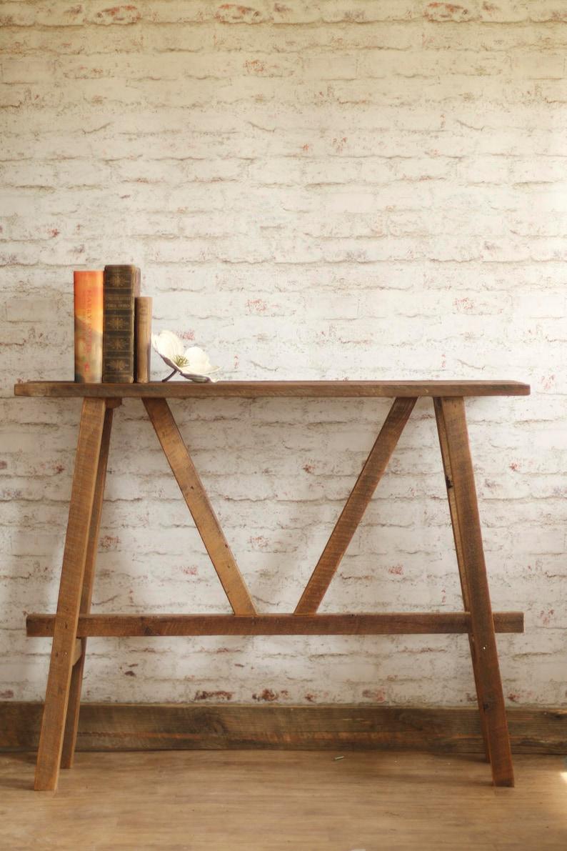 Table Console Rustique Table De Canape Etroit Regeneree Etsy