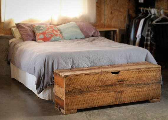 Blanket Chest made from Reclaimed Barn Wood - 50 inches - Storage Chest -  Trunk - Hope Chest