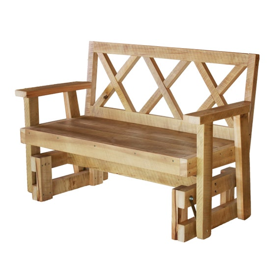 Excellent Porch Glider Bench Made From Reclaimed Wood Rocking Chair Patio Bench Outdoor Bench Creativecarmelina Interior Chair Design Creativecarmelinacom