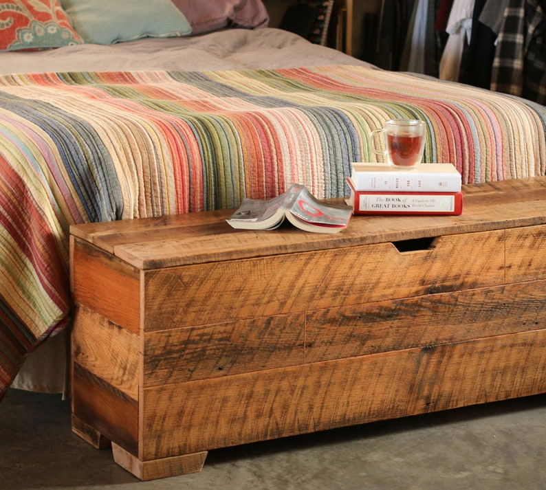 bedroom chest king size storage chest trunk hope chest  etsy